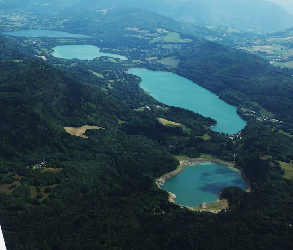 Les 3 lacs du restaurant Laffrey