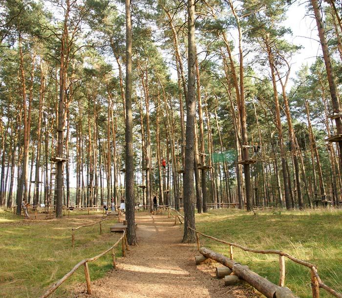 Air park parcours aventure au camping en Isere