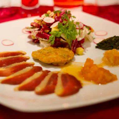 Plat du restaurant a Laffrey Au Pre du Lac