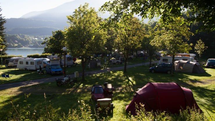 Emplacement d'une location de mobil home a Grenoble